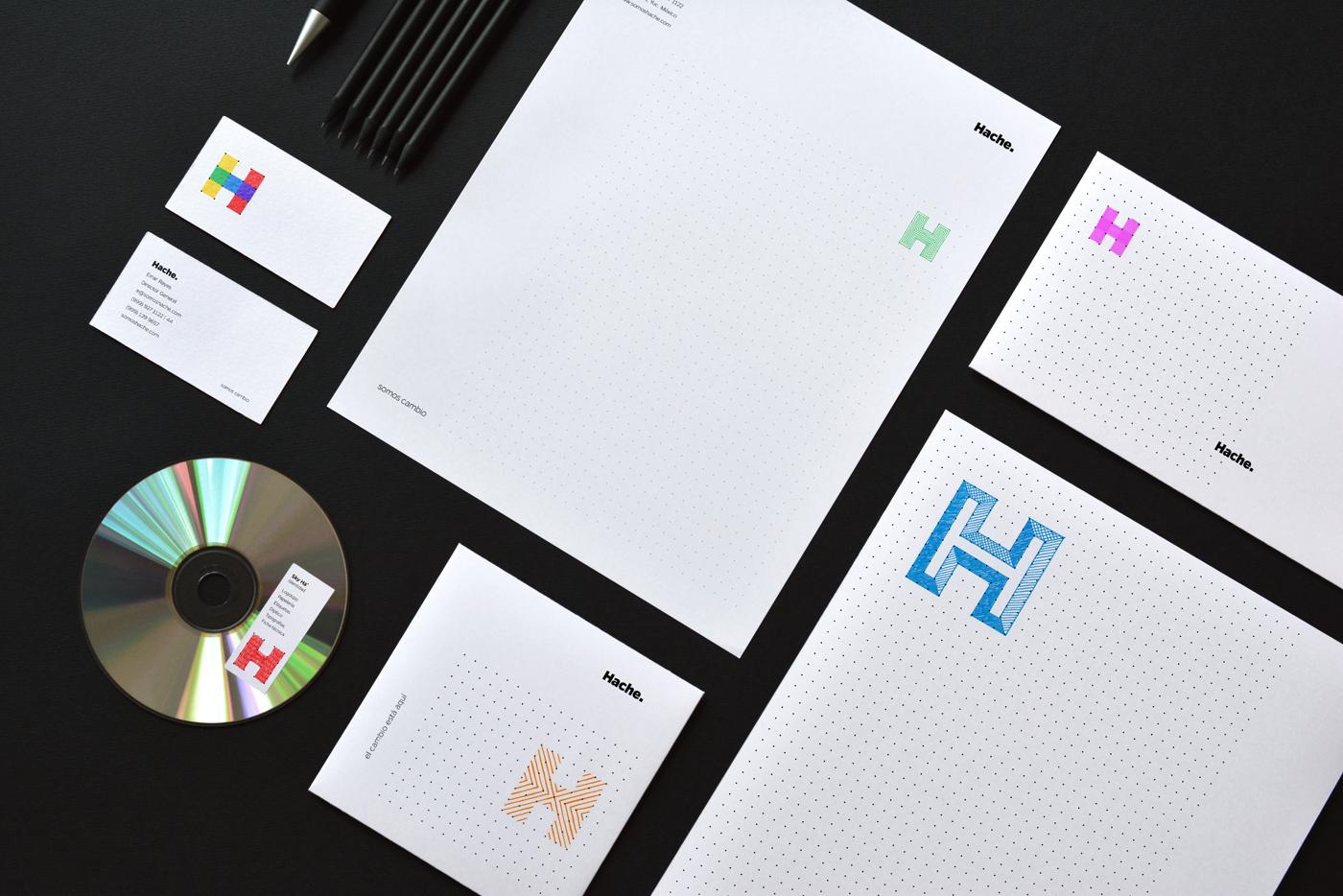 Rebranding Hache papelería